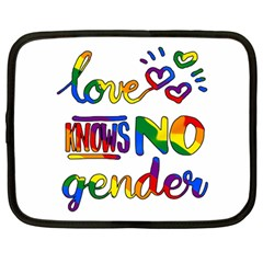 Love knows no gender Netbook Case (Large)
