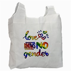 Love knows no gender Recycle Bag (One Side)