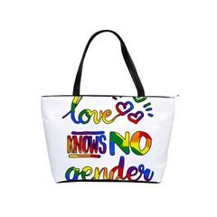 Love knows no gender Shoulder Handbags