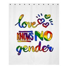 Love Knows No Gender Shower Curtain 60  X 72  (medium)