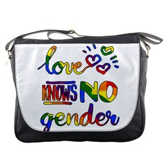 Love knows no gender Messenger Bags