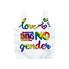 Love knows no gender Full Print Recycle Bags (S)