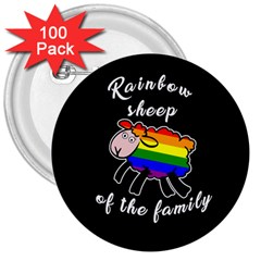 Rainbow sheep 3  Buttons (100 pack)