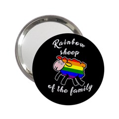 Rainbow sheep 2.25  Handbag Mirrors