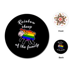 Rainbow sheep Playing Cards (Round)