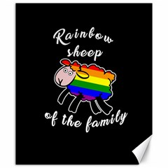 Rainbow sheep Canvas 20  x 24
