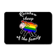 Rainbow sheep Small Doormat