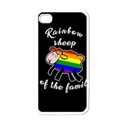 Rainbow sheep Apple iPhone 4 Case (White)
