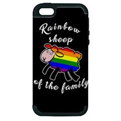Rainbow Sheep Apple Iphone 5 Hardshell Case (pc+silicone)