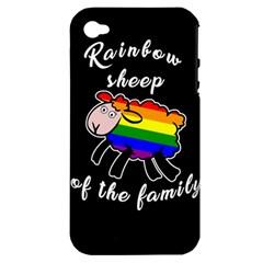 Rainbow sheep Apple iPhone 4/4S Hardshell Case (PC+Silicone)