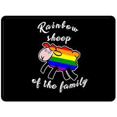 Rainbow sheep Double Sided Fleece Blanket (Large)