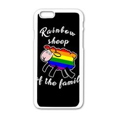 Rainbow sheep Apple iPhone 6/6S White Enamel Case