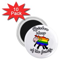 Rainbow sheep 1.75  Magnets (10 pack)