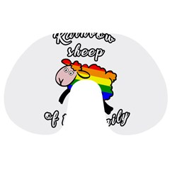 Rainbow sheep Travel Neck Pillows