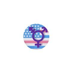 Transgender flag 1  Mini Buttons