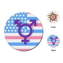 Transgender flag Playing Cards (Round)