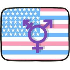 Transgender flag Fleece Blanket (Mini)