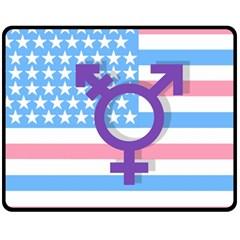 Transgender flag Fleece Blanket (Medium)