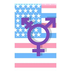 Transgender flag Shower Curtain 48  x 72  (Small)