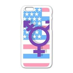Transgender flag Apple iPhone 6/6S White Enamel Case
