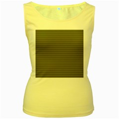 Lines pattern Women s Yellow Tank Top
