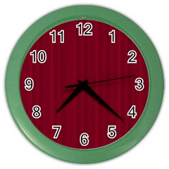 Lines Pattern Color Wall Clocks