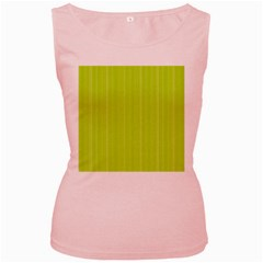 Lines pattern Women s Pink Tank Top