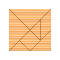 Lines pattern Acrylic Tangram Puzzle (4  x 4 )