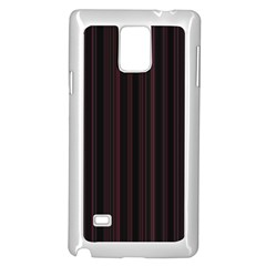 Lines pattern Samsung Galaxy Note 4 Case (White)