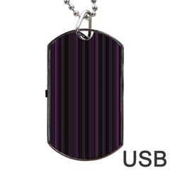 Lines pattern Dog Tag USB Flash (One Side)