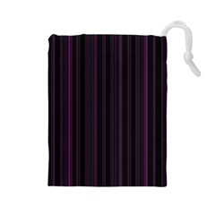 Lines pattern Drawstring Pouches (Large)