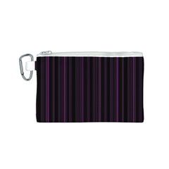 Lines pattern Canvas Cosmetic Bag (S)