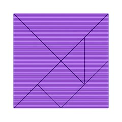Lines pattern Acrylic Tangram Puzzle (6  x 6 )