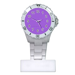 Lines pattern Plastic Nurses Watch