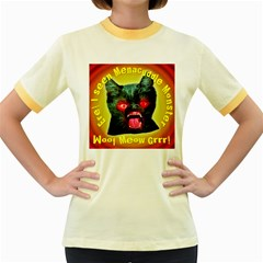 Ere! I Seen Menacuddle Monster Women s Fitted Ringer T-Shirts