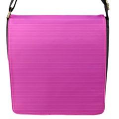 Lines pattern Flap Messenger Bag (S)