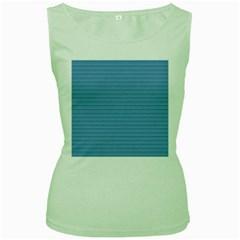 Lines pattern Women s Green Tank Top