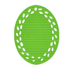 Lines pattern Oval Filigree Ornament (Two Sides)