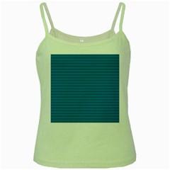 Lines pattern Green Spaghetti Tank