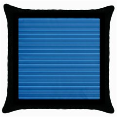 Lines pattern Throw Pillow Case (Black)