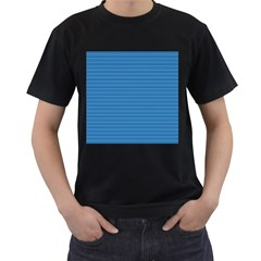 Lines pattern Men s T-Shirt (Black) (Two Sided)