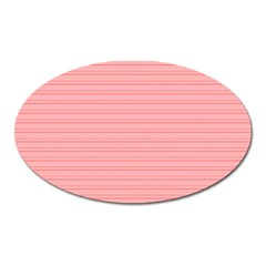 Lines pattern Oval Magnet