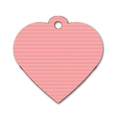 Lines pattern Dog Tag Heart (One Side)