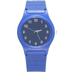 Lines pattern Round Plastic Sport Watch (S)