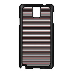 Lines pattern Samsung Galaxy Note 3 N9005 Case (Black)