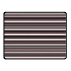 Lines pattern Double Sided Fleece Blanket (Small)