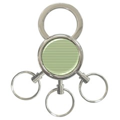 Lines pattern 3-Ring Key Chains