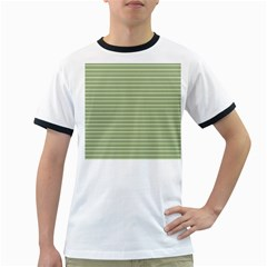 Lines pattern Ringer T-Shirts