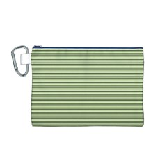 Lines pattern Canvas Cosmetic Bag (M)