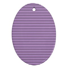 Lines Pattern Oval Ornament (two Sides)